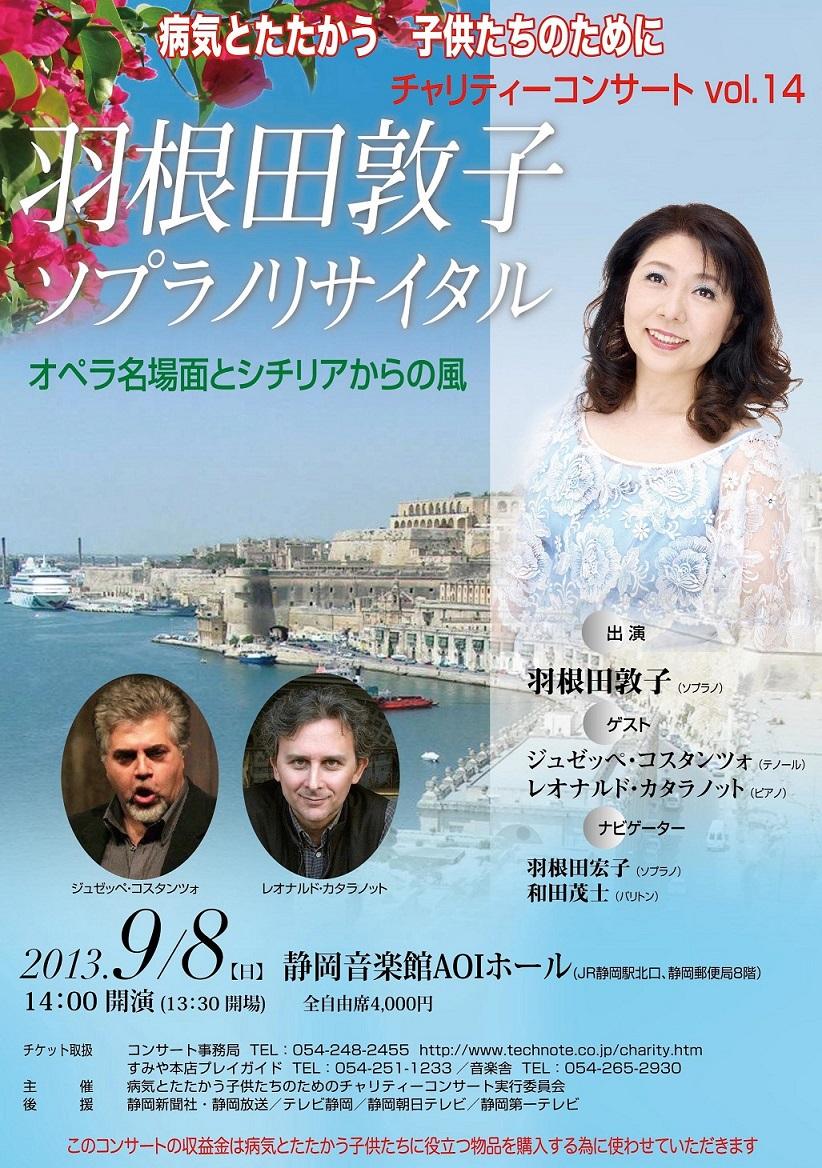 病気とたたかう子供たちのためのチャリテーコンサート2013(羽根田敦子)